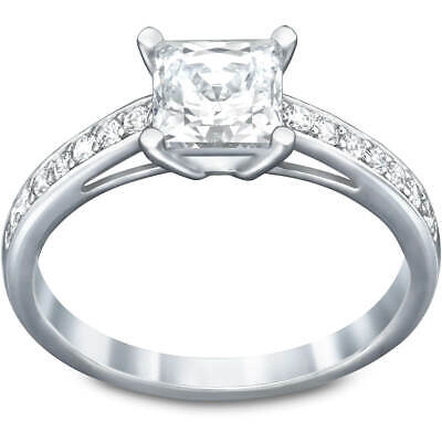 Swarovski Crystal Square Engagement Ring ATTRACT RING (Large58/8) -5032917 New