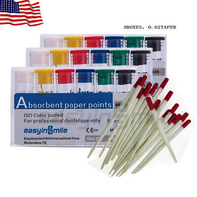 Easyinsmile 600pcs Dental Paper Points Abosrbent Point For Endo Root Canal Treat