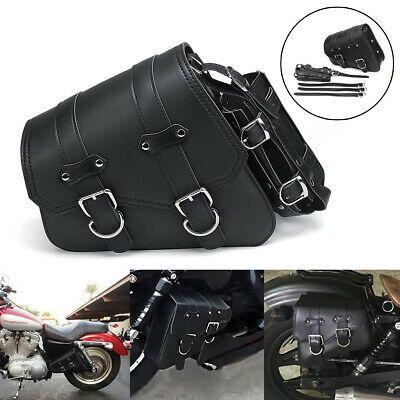 LEFT SINGLE SADDLEBAG SADDLE BAG SIDE PANNIER FOR HARLEY DAVIDSON SPORTSTER US Left Side Saddlebag