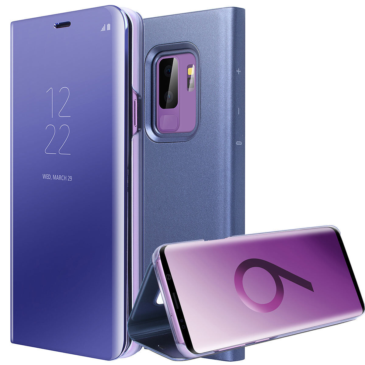 Купить Luxury Touch Mirror Smart Flip Stand Case Cover For Samsung Galaxy S9 Plus S9 S8