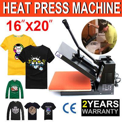 Us 16x20 Digital Heat Press Machine T-shirt Transfer Sublimation Clamshell Diy