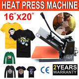 "US 16""x20"" Digital Heat Press Machine T-Shirt Transfer Sublimation Clamshell DIY"