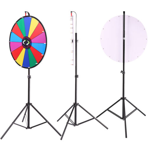 """24"""" Editable Dry Erase Color Prize Wheel of Fortune Spinning Game Tradeshow"""