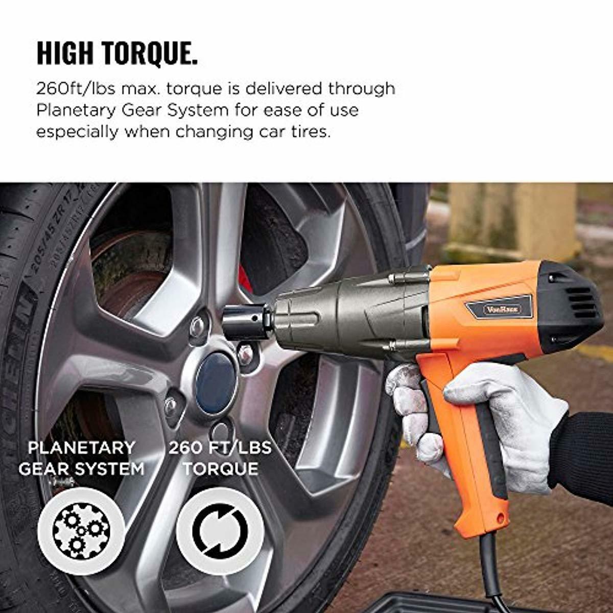 120v Impact Wrench Gun Corded Electric 1/2 Inch Lug Nut Car