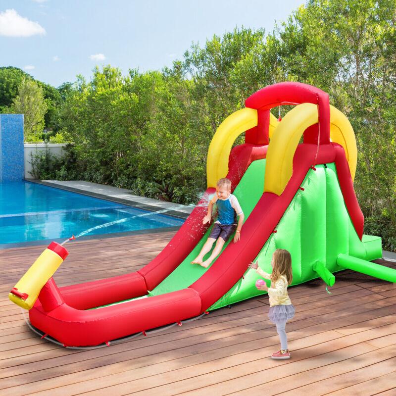 Inflatable Moonwalk Water Slide Bounce House Bouncer Kids Jumper Climbing New