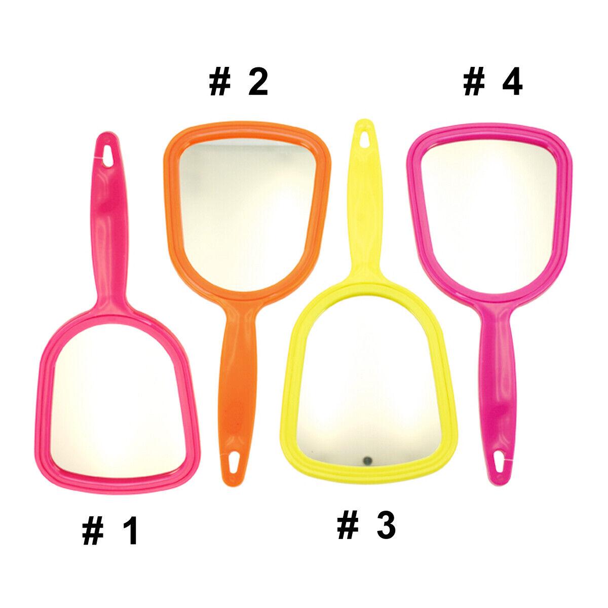 Neon Spiegel Handspiegel Kosmetikspiegel Reisespiegel mit Griff 21x10cm
