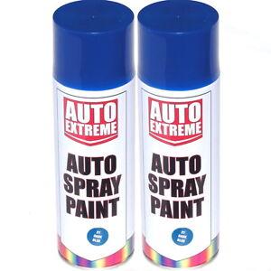 2-x-500ml-Dark-Blue-Gloss-Spray-Paint-Aerosol-Can-Auto-Extreme-Car-Van-Bike