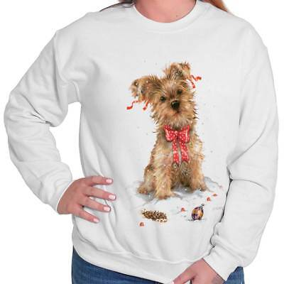Christmas Dogs Sweatshirt - Christmas Terrier Xmas Dog Lover Puppy Owner Pet Lady Gift Pullover Sweatshirt