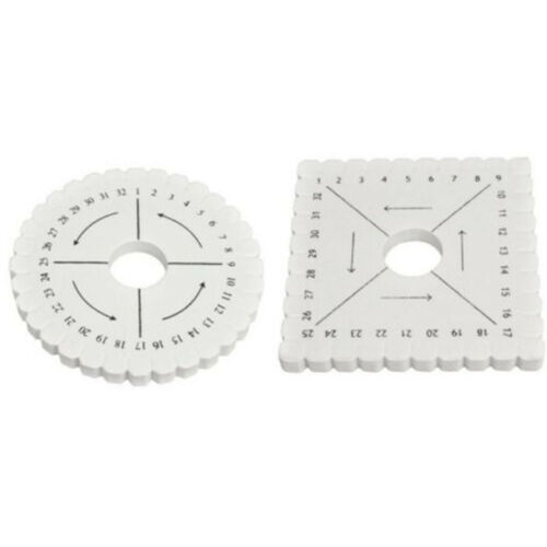 Kumihimo Round or Square Disc Disk- 10.25cm - Round & Square