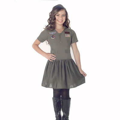 Top Gun Girl's Flight Dress Child Costume Leg Avenue - Top Gun Girl Kostüm