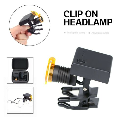 Wireless Dental 3W LED Headlight with Optical Filter for Dental Binocular Loupes