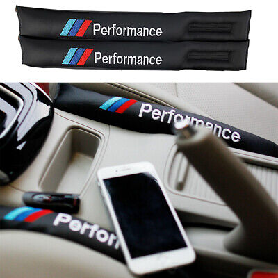 2Pcs Black Car Seat Cover Gap Filler PU Leather Pad Drop Stopper For BMW Series