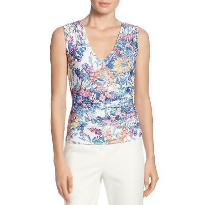 T Tahari Womens Floral Print Surplice Neck Blouse Wrap Top Shirt BHFO 7682 Floral Print Wrap Top
