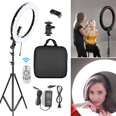 """18"""" LED Ring Light W/Stand 3200-5600K Dimmable Lighting For Makeup Phone Camera"""
