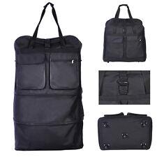 "Goplus 40"" Wheeled Rolling Spinning Suitcase Duffel Bag Travel Luggage Black New"