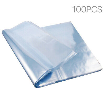 100 Pcs Heat Shrink Bag Wrap Film Packaging Seal 6.2x7.1 Clear Pvc Shrinkable