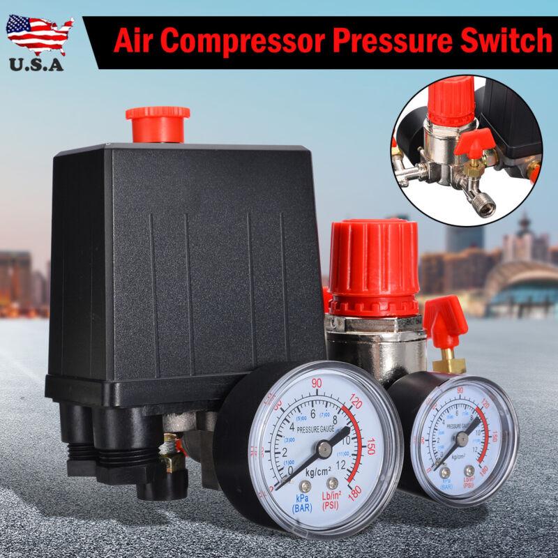 Air Compressor Pressure Switch Control Manifold Regulator Ga