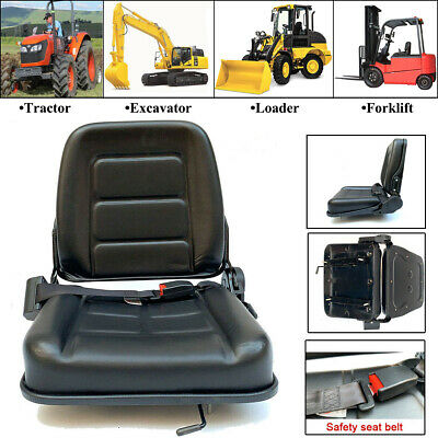 Universal Seat For Tractorloaderexcavatorforklift Black Waterproof Pvc Safety