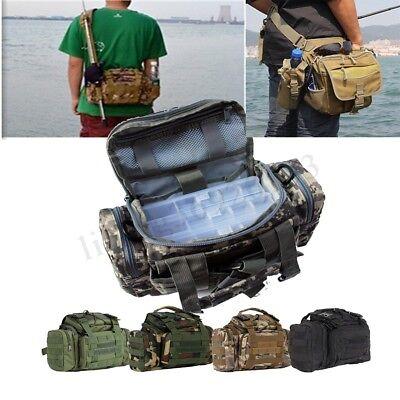 Fishing Tackle Bag Waist Shoulder Storage Carry Lure Bait Box Handbag Backpack
