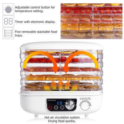 Electric 5 Tray FOOD DEHYDRATOR Beef Jerky Snack Machine Fruit Dryer Meat Maker Beef Jerky Maker