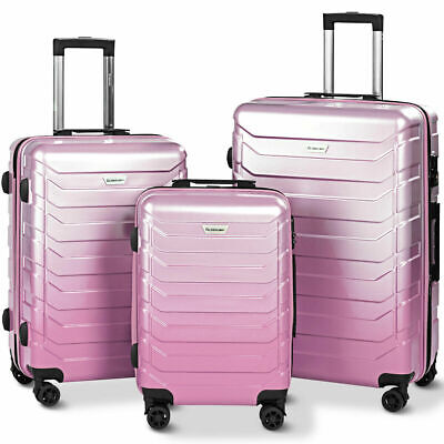3PCS Luggage Set Expandable Suitcase PC+ABS Spinner W/TSA Lock 20