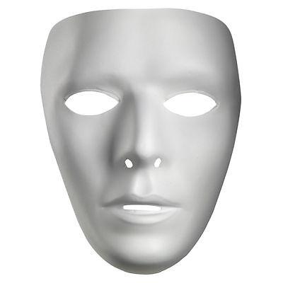 Blank Male White Costume Face Jabbawockeez Disguise Mask - Halloween Mask - Halloween Costumes Jabbawockeez Mask