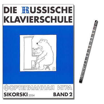 Die Russische Klavierschule Band 2 mit PianoBleistift - 9783920880693