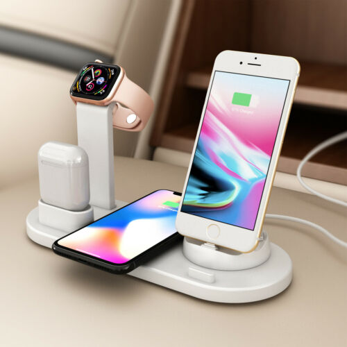 For Apple Watch iPhone iPad 4 In 1 Qi Wireless Fast Charging