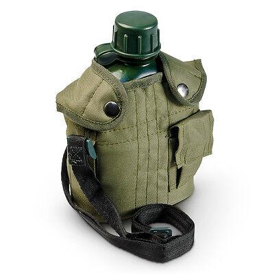 Feldflasche 1 Liter Trinkflasche Wasserflasche Billy Can Bundeswehr US Army grün