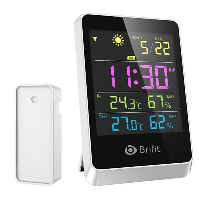 Brifit Wireless Hygrometer Indoor Outdoor Thermometer Humidity Monitor, Weather