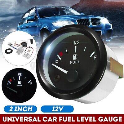 2'' 52mm Digital Fuel Level Gauge Oil Meter Measure Sender Fuel Sensor White