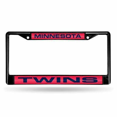 Minnesota Twins MLB Black Metal Laser Cut License Plate Frame Minnesota Twins Laser