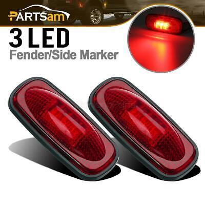 For 2003-2009 DODGE RAM 3500 Dually Bed LED Side Fender Marker Lights Rear