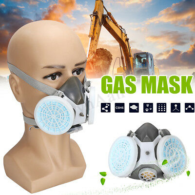 Safety Respiratory Gas Mask Half Face Paint Spraying Anti-dust Spray Protection