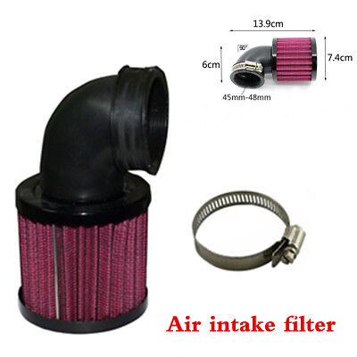 Black Universal Motorcycle Air Cleaner Intake Filter For Bobber Chopper Cruiser