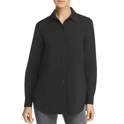 Lysse Womens Reese Pleated Tunic Long Sleeves Button-Down Top Blouse BHFO -