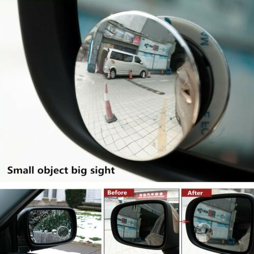 1 PAIR DRIVER SIDE BLIND SPOT WIDE ANGLE ROUND CONVEX CAR AUTO REAR VIEW MIRROR