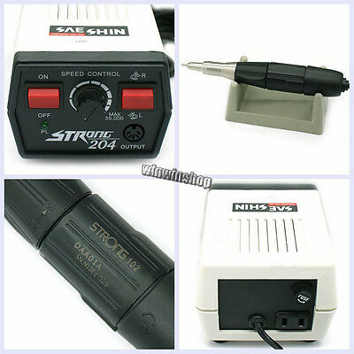 Dental Jewelry Carving Strong 204 Micro Motor 102 Polishing Handpiece 110v