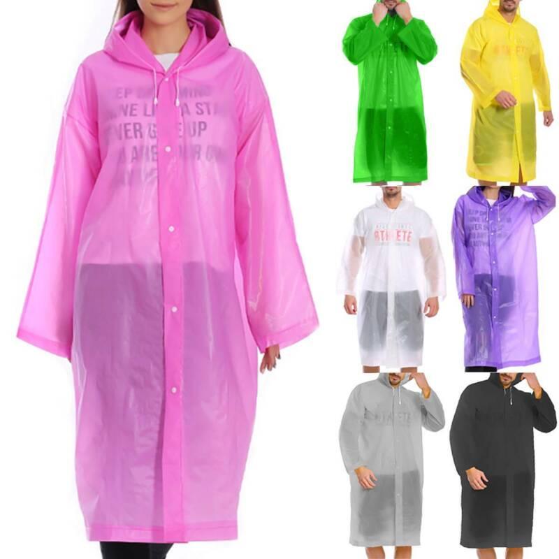 Herren Damen Regenjacke Regenmantel Regencape Regenponcho Kapuzen Fahrradschutz