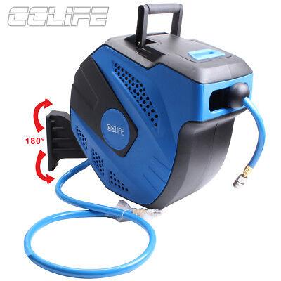 Automatik Luft Druckluftschlauch Schlauchtrommel Schlauchaufroller 15 m+1m 20bar