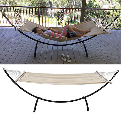 Heavy Duty Hammock Stand Tri-Beam Steel Outdoor Patio Swing FREE Linen Hammock