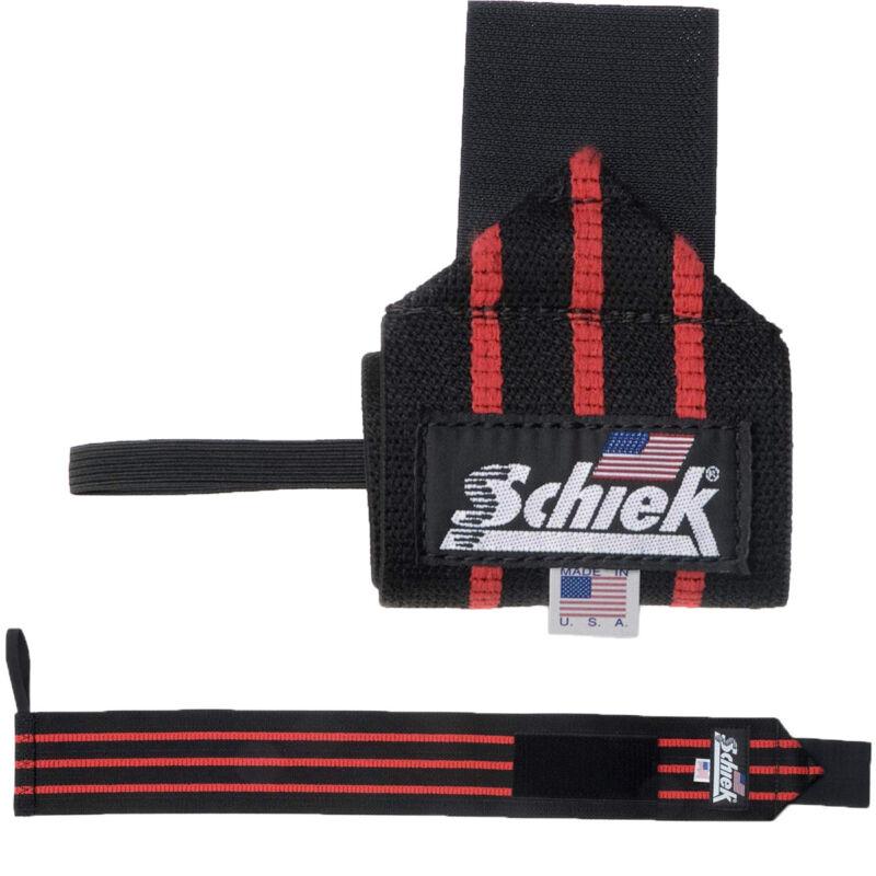 """Schiek Sports Model 1112 Heavy Duty 12"""" Wrist Wraps - Black/Red"""