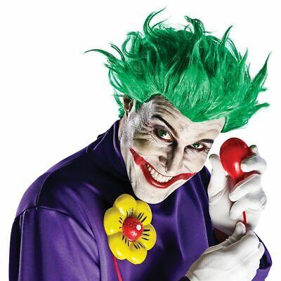 Batman And Joker Halloween Costumes (Joker Kit Wig, gloves and squirting Flower Batman Arkham Costume)