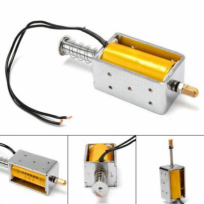12V Long-Stroke Solenoide Electromagnético Eléctrico Imán Empujar Tirar 34mm (