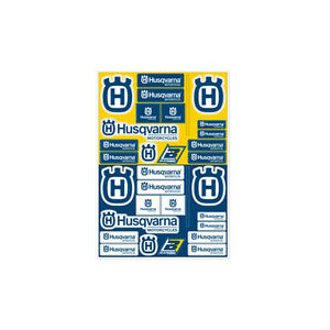 Motocross MX Aufkleber Dekor Husqvarna Factory Racing Sticker Set Kit Blau Gelb