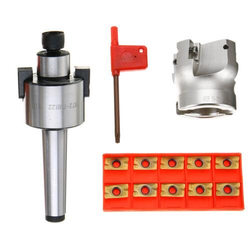 MT2 400R 50mm FMB22 Shank Face End Mill Cutter 10 Carbide Insert APMT1604 CNC