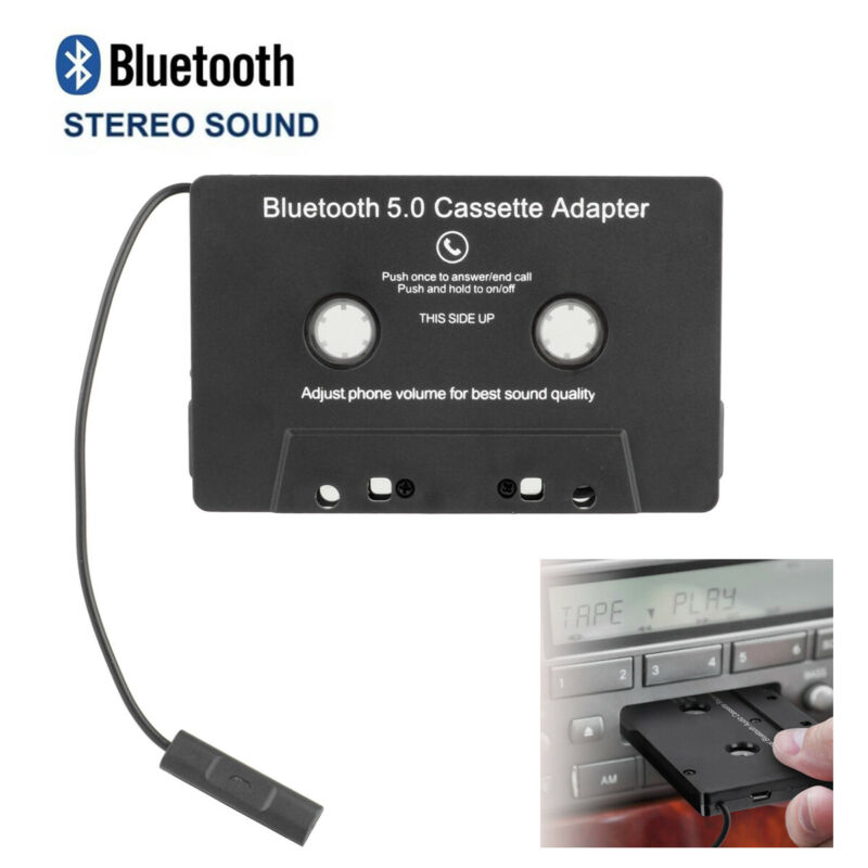 Car Bluetooth 5.0 Audio Stereo Cassette Tape Adapter To Aux For iPhone Huawei US