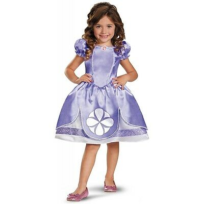 Princess Sofia Costume Kids Toddler Sofia the First Halloween Fancy Dress (Sofia The First Toddler Dress)