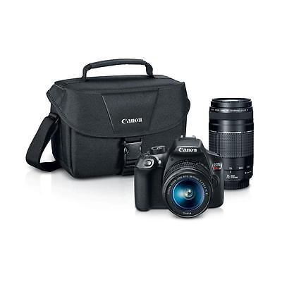 New Canon Rebel T6 Digital Slr Camera Premium Kit W  2 Lens 18 55   75 300Mm Bag