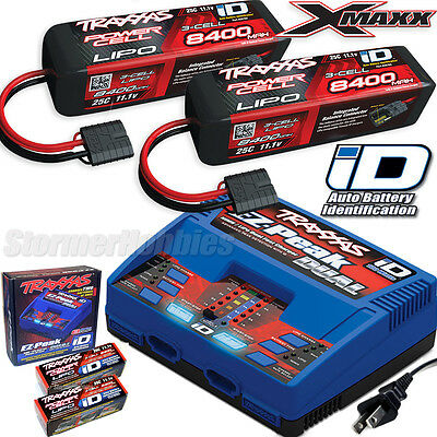 Traxxas Ez Peak Dual Lipo Charger And 2X 3S 8400Mah X Maxx 6S Lipo Battery Combo
